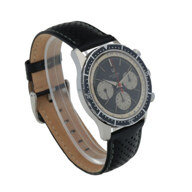 View 3. Thumbnail of Lot 1158.  UNIVERSAL GENÈVE    COMPAX, REF 22703/2   STAINLESS STEEL CHRONOGRAPH WRISTWATCH   CIRCA 1970.