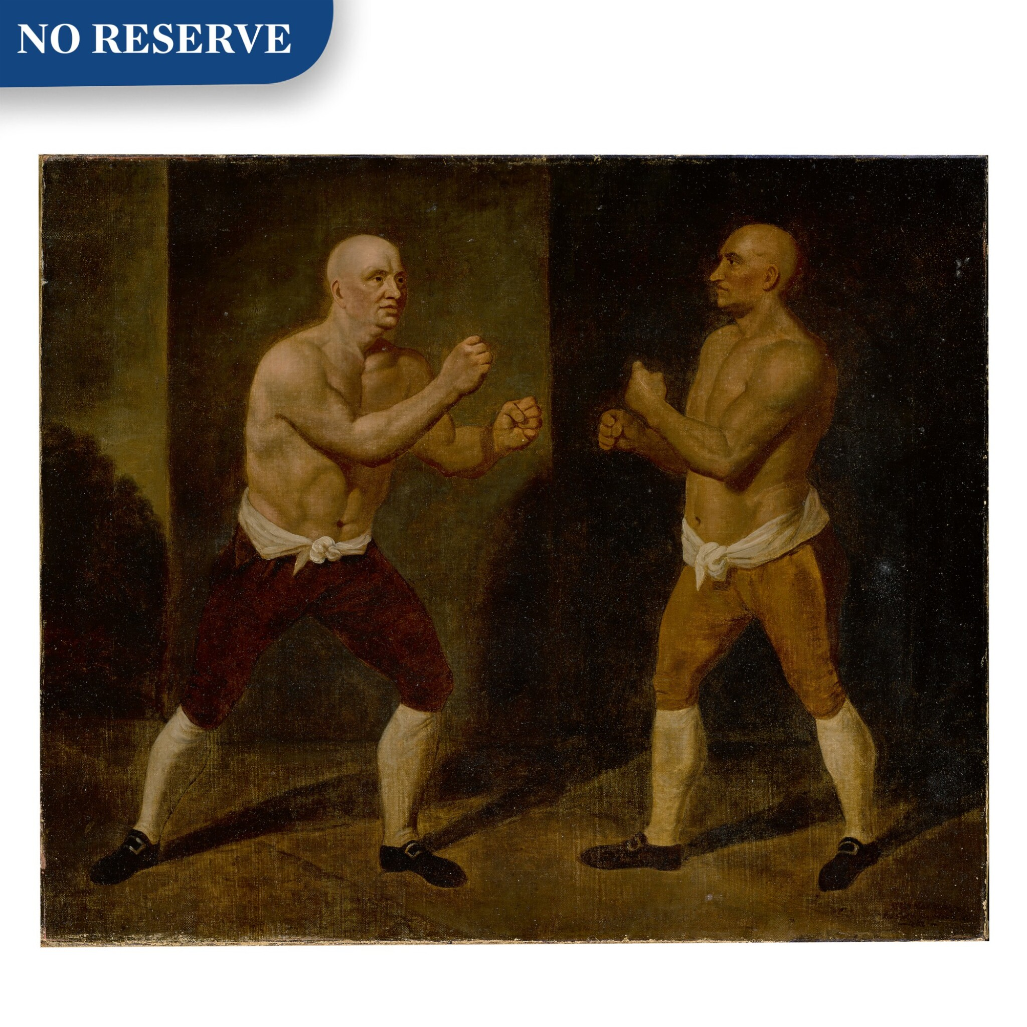 View full screen - View 1 of Lot 120. The set-to: the match between John Broughton and George Stevenson, 1741.