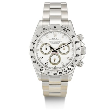 ROLEX  |  COSMOGRAPH DAYTONA, REFERENCE 116520,  A STAINLESS STEEL CHRONOGRAPH WRISTWATCH WITH BRACELET, CIRCA 2004