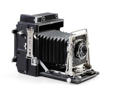 View 3. Thumbnail of Lot 3. Graflex Speed Graphic camera.