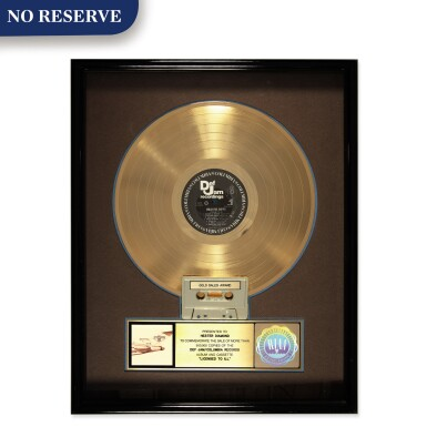 """View 1. Thumbnail of Lot 303. RIAA 1987 Gold Sales Award presented to Hester Diamond for the Beastie Boys 1986 album """"Licensed to Ill""""."""