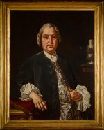 CARLO AMALFI   Portrait of the composer Niccolò Jommelli (1714-1774), half-length, in a blue coat and satin waistcoat