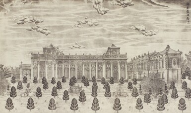 View 36. Thumbnail of Lot 362. A SET OF TWENTY PRINTS OF PALACES, PAVILIONS AND GARDENS AT YUANMING YUAN | 巴黎、1977年 《郎世寧圓明園西洋樓》 一組二十幅 水墨紙本.