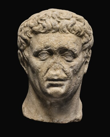 View 1. Thumbnail of Lot 41. A ROMAN MONUMENTAL MARBLE PORTRAIT HEAD OF NERVA, LATE 1ST CENTURY A.D..