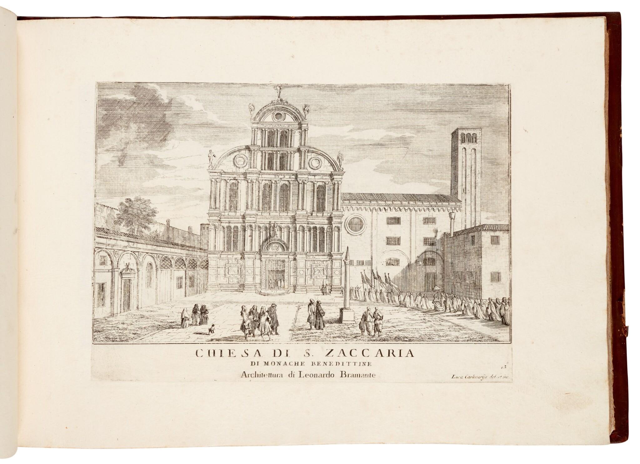 View full screen - View 1 of Lot 19. CARLEVARIS   Le fabriche e vedute di Venetia, Venice, [1705].