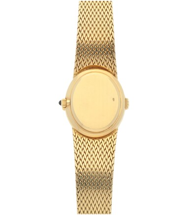 View 4. Thumbnail of Lot 153. REF 4332/1 YELLOW GOLD AND DIAMOND-SET BRACELET WATCH MADE IN 1977.