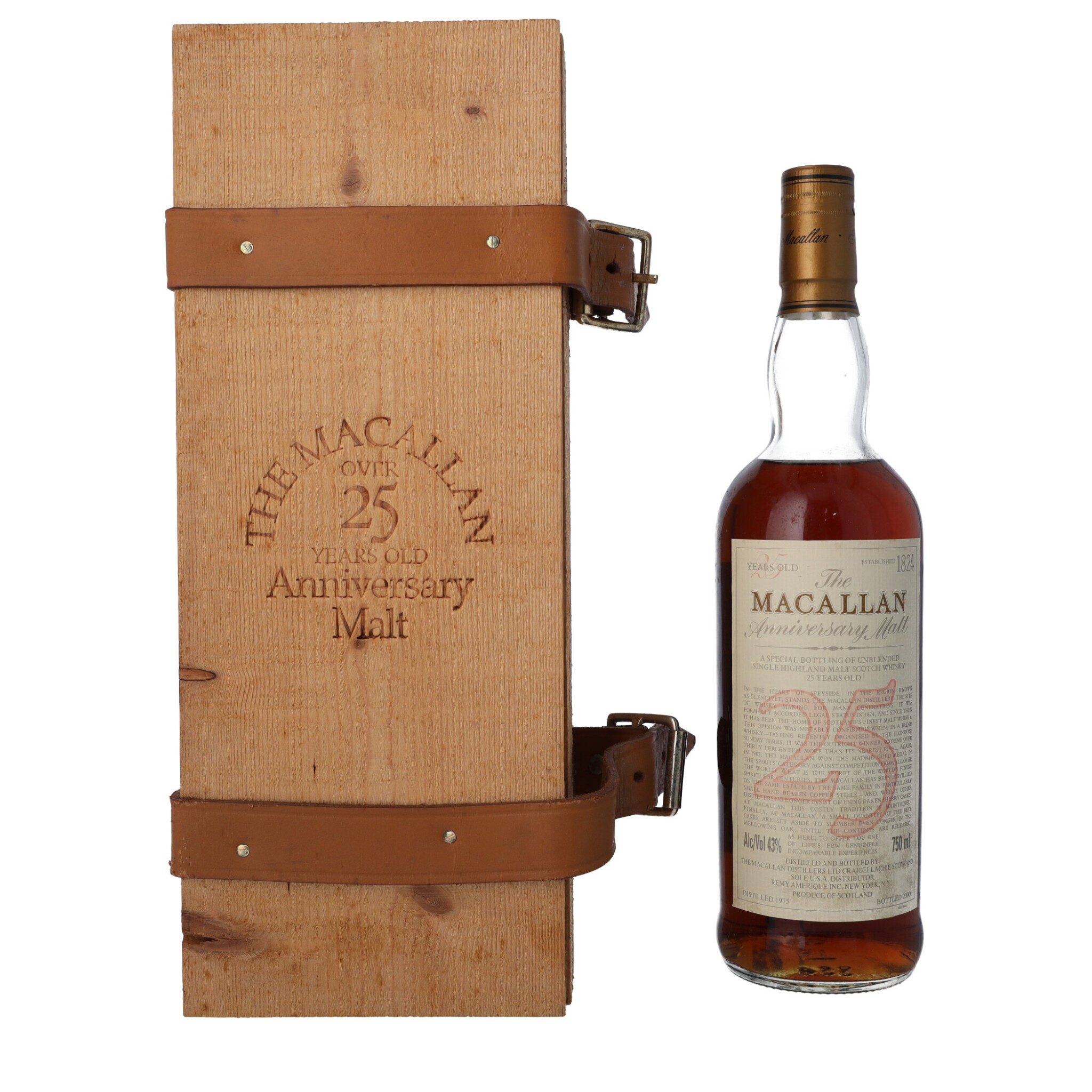 View full screen - View 1 of Lot 14. The Macallan 25 Year Old Anniversary Malt 43.0 abv 1975 (1 BT75).
