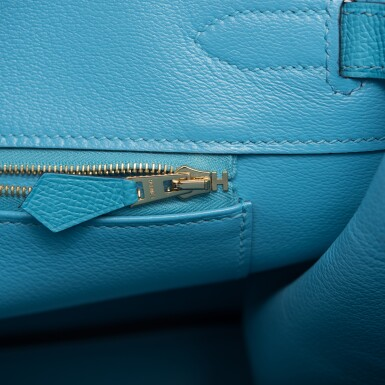 View 8. Thumbnail of Lot 15. Hermès Bleu du Nord Birkin 35cm of Epsom Leather with Gold Hardware.