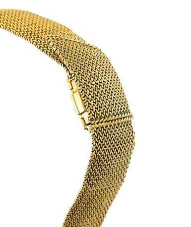View 1. Thumbnail of Lot 68. Montre bracelet de dame or | Gold lady's bracelet watch.