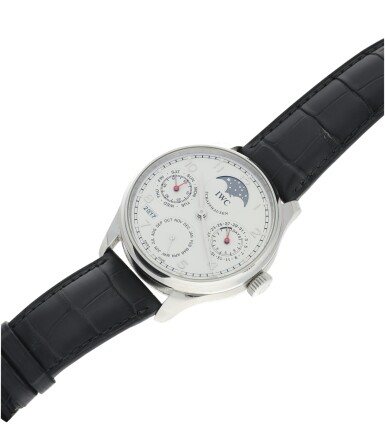 View 6. Thumbnail of Lot 23. IWC   REFERENCE IW5023-08 PORTUGIESER   A STAINLESS STEEL AUTOMATIC PERPETUAL CALENDAR WRISTWATCH MOON PHASES AND POWER RESERVE INDICATION, CIRCA 2015.
