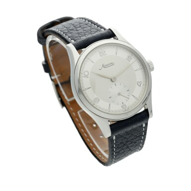 View 2. Thumbnail of Lot 115. Reference 48772 A stainless steel wristwatch, Circa 1997.