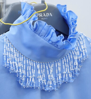 View 5. Thumbnail of Lot 23. PRADA | BEADED FRINGE EMBROIDERY DRESS,  ONE OF A KIND, NOT IN THE SHOW NEITHER IN THE STORES.