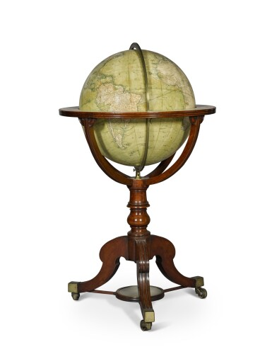 View 1. Thumbnail of Lot 67. A William IV 18-inch terrestrial globe by W. & T. M. Bardin, dated 1836.