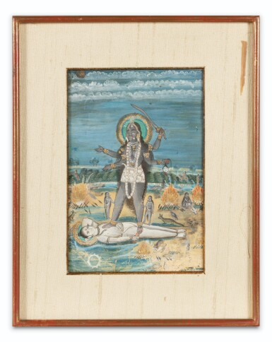 View 8. Thumbnail of Lot 70. INDE, RAJASTHAN AND PAHARI SCHOOLS, 19TH CENTURY   A DRAWING AND THREE MINIATURES.