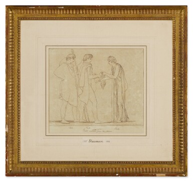 View 5. Thumbnail of Lot 38. JOHN FLAXMAN | THREE SCENES FROM LES EUMENIDES: ACTS I, 2 AND 4.