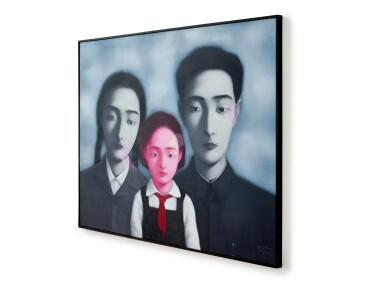 View 4. Thumbnail of Lot 1120. Zhang Xiaogang 張曉剛   Bloodline - The Big Family No. 1 1997 血緣:大家庭1號 1997.