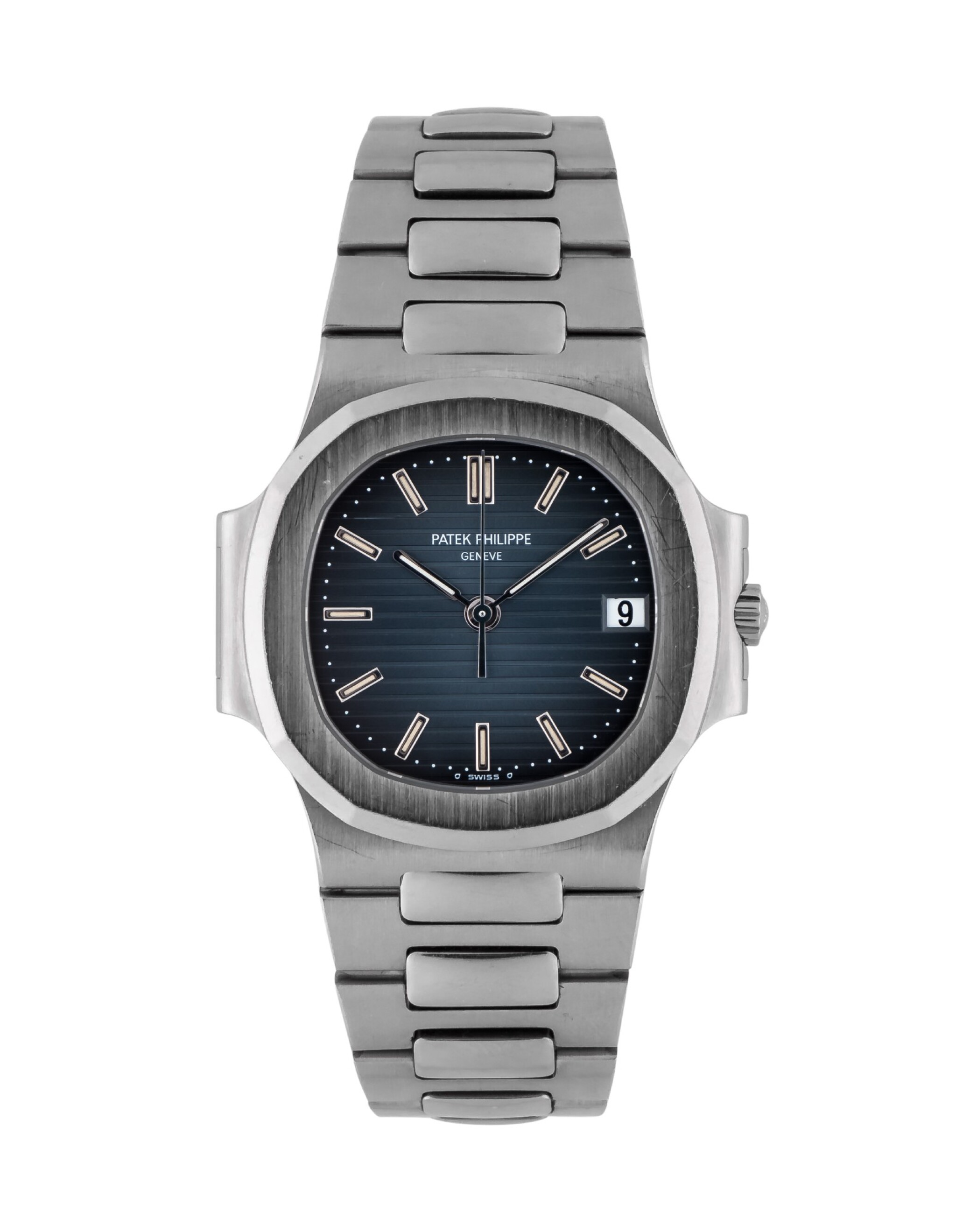 View full screen - View 1 of Lot 3. PATEK PHILIPPE   NAUTILUS, REF 3800/1A STAINLESS STEEL WRISTWATCH WITH DATE AND BRACELET MADE IN 2003.