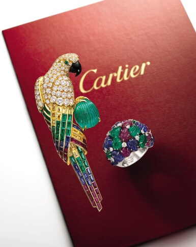 View 2. Thumbnail of Lot 1658. Cartier | 'Tutti Frutti' Gem Set and Diamond Ring | 卡地亞 | 「水果錦囊」 寶石 配 鑽石 戒指.