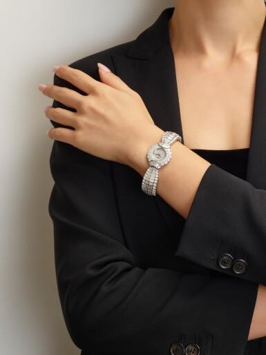 View 5. Thumbnail of Lot 1020. RARE AND POSSIBLY UNIQUE MANUALLY-WOUND DIAMOND WRISTWATCH, CHOPARD 罕有並可能獨一無二手動上鏈鑽石腕錶, 蕭邦 (Chopard) .