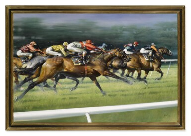 View 2. Thumbnail of Lot 16. PETER CURLING |  SPRINT FINISH.