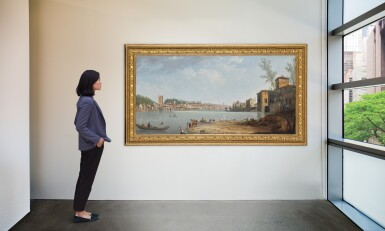 View 2. Thumbnail of Lot 56. THOMAS PATCH  |  FLORENCE, A VIEW OF THE RIVER ARNO WITH THE PONTE ALLE GRAZIE.