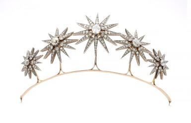 DIAMOND TIARA, CIRCA 1890