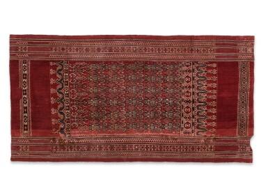 View 2. Thumbnail of Lot 38. Tissu cérémoniel pua, Iban, Bornéo, Indonésie, début du 20e siècle | Ceremonial cloth pua, Iban, Borneo, Indonesia, early 20th century.