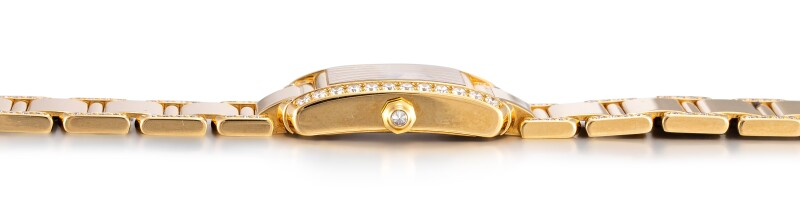 Tank Française, Reference 2385  A Yellow Gold And Diamond-Set Wristwatch With Bracelet, Circa 2000