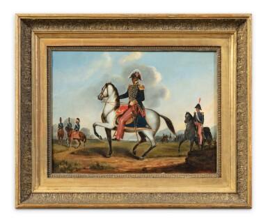 View 2. Thumbnail of Lot 198. Portrait of François Dominique Toussaint Louverture (1743-1803) in uniform, mounted on his horse.