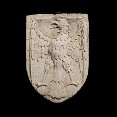 View 1. Thumbnail of Lot 143. Italian, Venice, in 15th century style | Escutcheon with an Eagle.