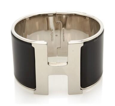 Enamel and palladium bracelet, Clic Clac H , Hermès