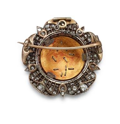 View 3. Thumbnail of Lot 9002. Diamond and Enamel Brooch, Circa 1830 | 鑽石 配 琺瑯彩 胸針,約1830年.