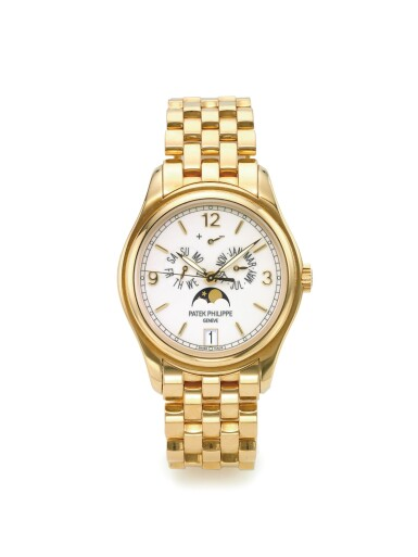 View 1. Thumbnail of Lot 152. PATEK PHILIPPE   REF 5146/1J, A YELLOW GOLD AUTOMATIC ANNUAL CALENDAR WRISTWATCH WITH MOON PHASES AND POWER RESERVE INDICATION MADE IN 2008.