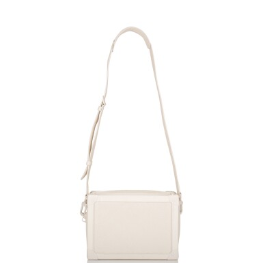 View 7. Thumbnail of Lot 85. Louis Vuitton x Virgil Abloh White Soft Trunk Bag of Taurillion Monogram Leather with White Hardware.