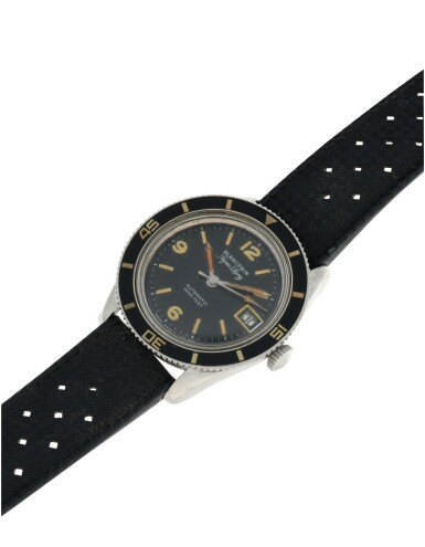 View 5. Thumbnail of Lot 82.  BLANCPAIN | AQUA LUNG  A STAINLESS STEEL AUTOMATIC WRISTWATCH WITH DATE, CIRCA 1960.