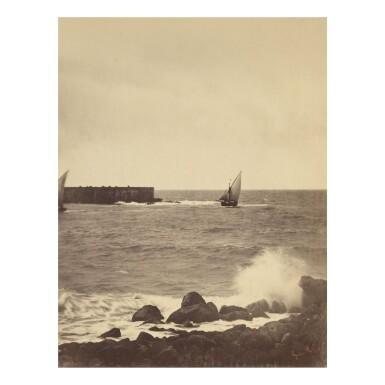 GUSTAVE LE GRAY | 'LA VAGUE BRISÉE, MER MÉDITERANÉE' (THE BREAKING WAVE)