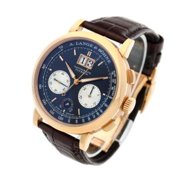 View 2. Thumbnail of Lot 292. Reference 405.031F Datograph Up/Down  A pink gold flyback chronograph wristwatch with date, Circa 2014.