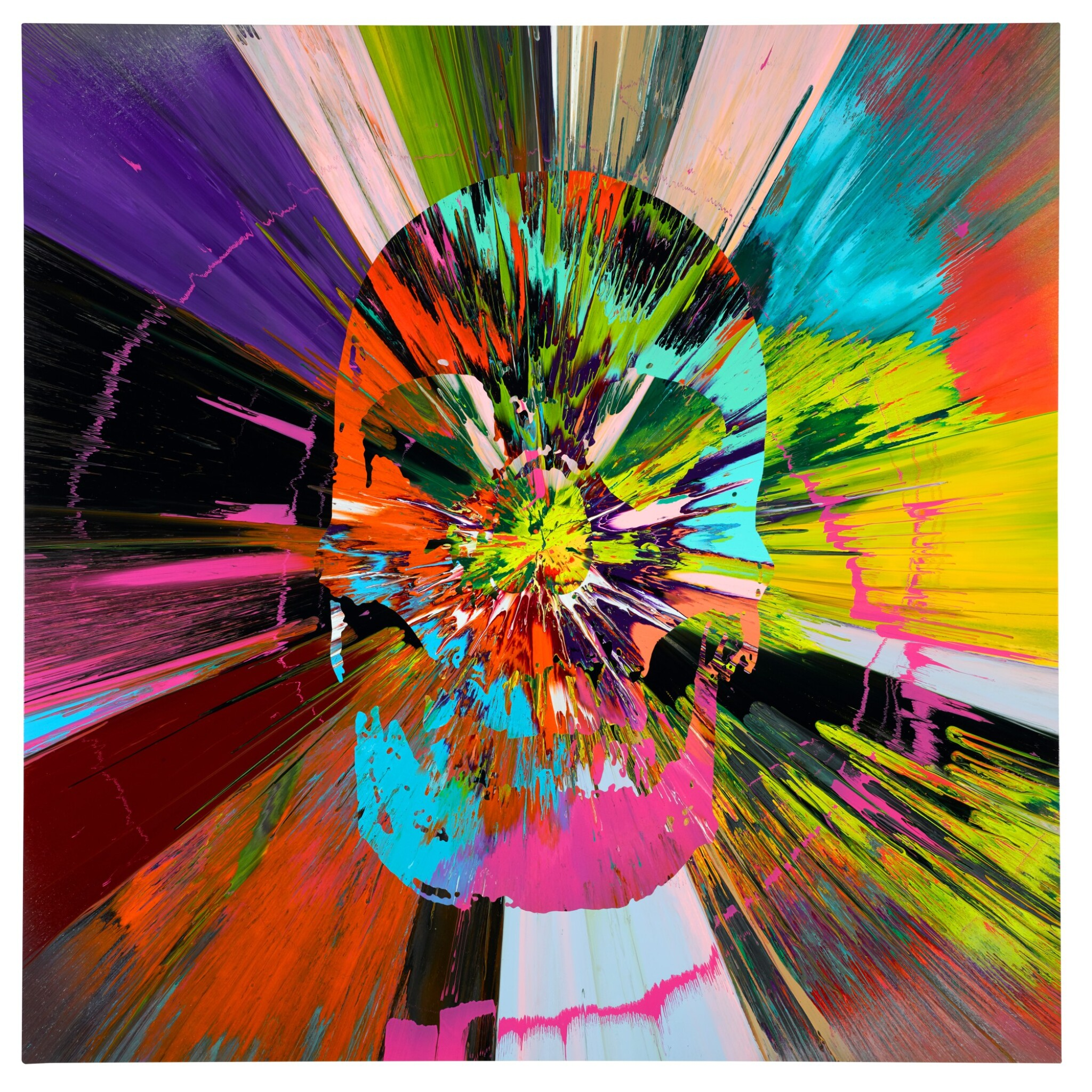 View 1 of Lot 868. DAMIEN HIRST | BEAUTIFUL APOCATEQUIL NARCISSISM PAINTING.