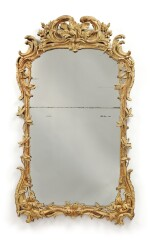 A LOUIS XV CARVED AND GILTWOOD MIRROR, MID-18TH CENTURY