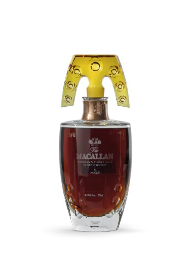 View 1. Thumbnail of Lot 2002. The Macallan In Lalique - Natural Colour Decanter, 55 Years Old.