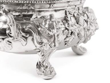 View 3. Thumbnail of Lot 192. TWO MATCHING GEORGIAN SILVER SMALL TUREENS AND COVERS, WILLIAM CRIPPS AND PARKER & WAKELIN, LONDON, 1757 AND 1770.
