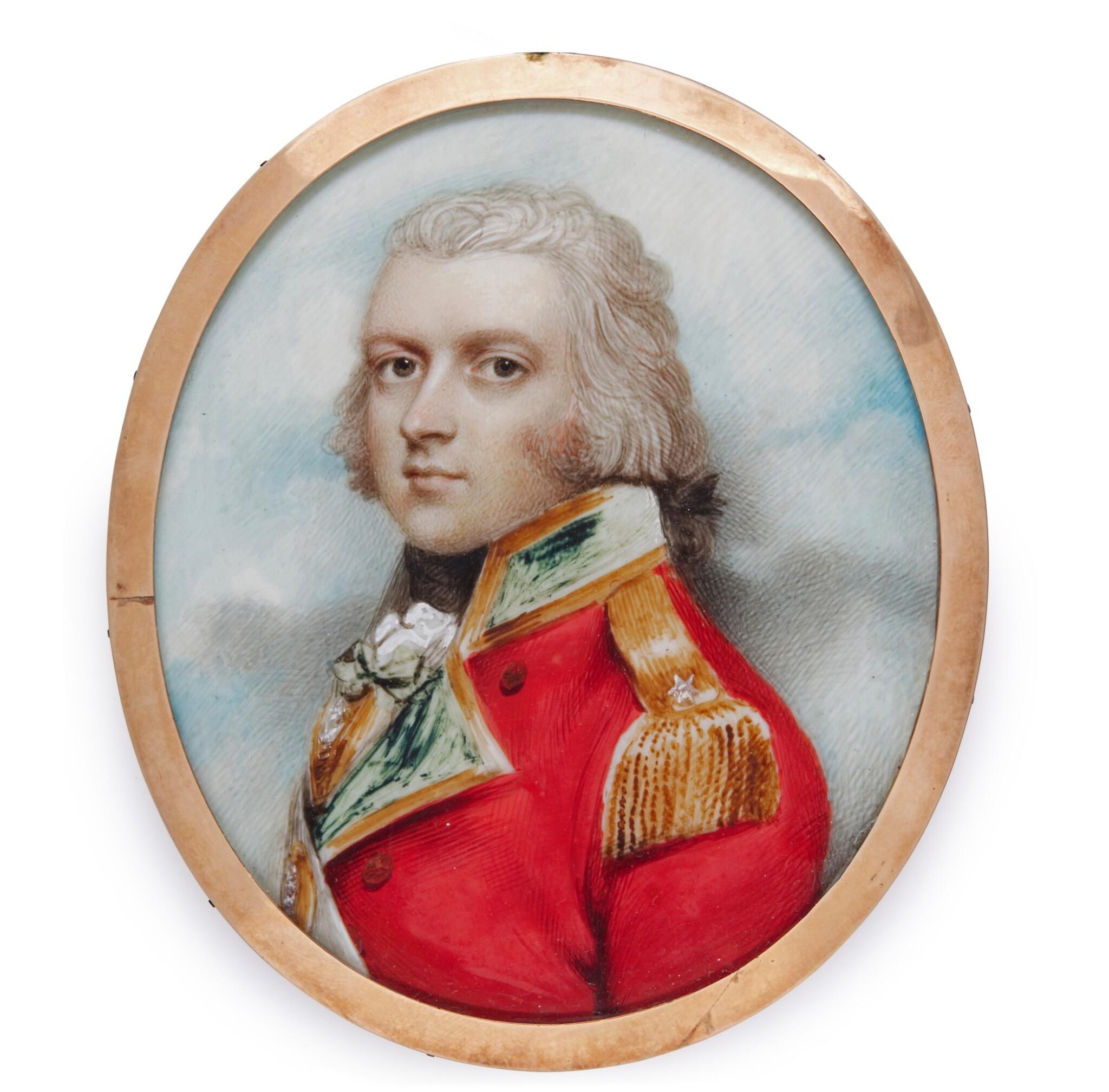 View full screen - View 1 of Lot 475. Portrait of Lieutenant General Edwin Hewgill (d. 1809).