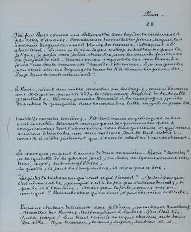 View 2. Thumbnail of Lot 224. COCTEAU. Journal 1911-1912. Manuscrit inédit. 91 p. in-folio. Précieux journal de jeunesse. .