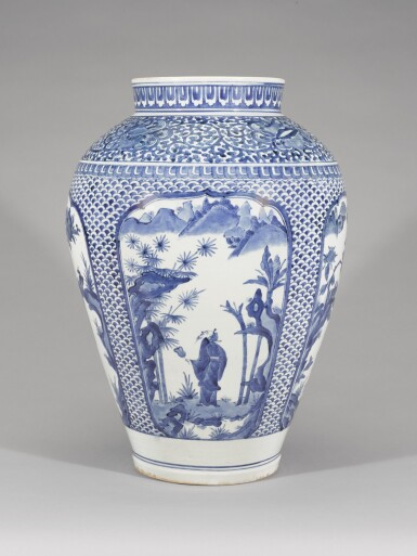 View 1. Thumbnail of Lot 106. A LARGE KAKIEMON-STYLE VASE, EDO PERIOD, LATE 17TH CENTURY.