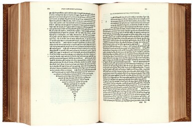View 1. Thumbnail of Lot 7. Plutarchus. Opuscula moralia. Venice, Aldus, 1509. nineteenth-century red morocco gilt.