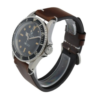 View 2. Thumbnail of Lot 403. SUBMARINER, REF 5513 STAINLESS STEEL WRISTWATCH CIRCA 1966.