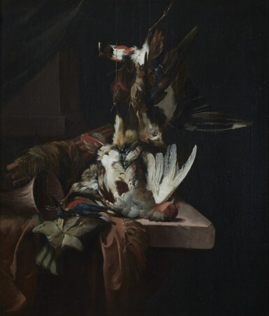 WILLIAM GOUW FERGUSON | STILL LIFE WITH GAME, WITH A PARTRIDGE AND A KINGFISHER