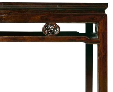 View 3. Thumbnail of Lot 119. A ZITAN SIDE TABLE, TIAOZHUO, QING DYNASTY, 18TH CENTURY   清十八世紀 紫檀有束腰團龍卡子花條桌.