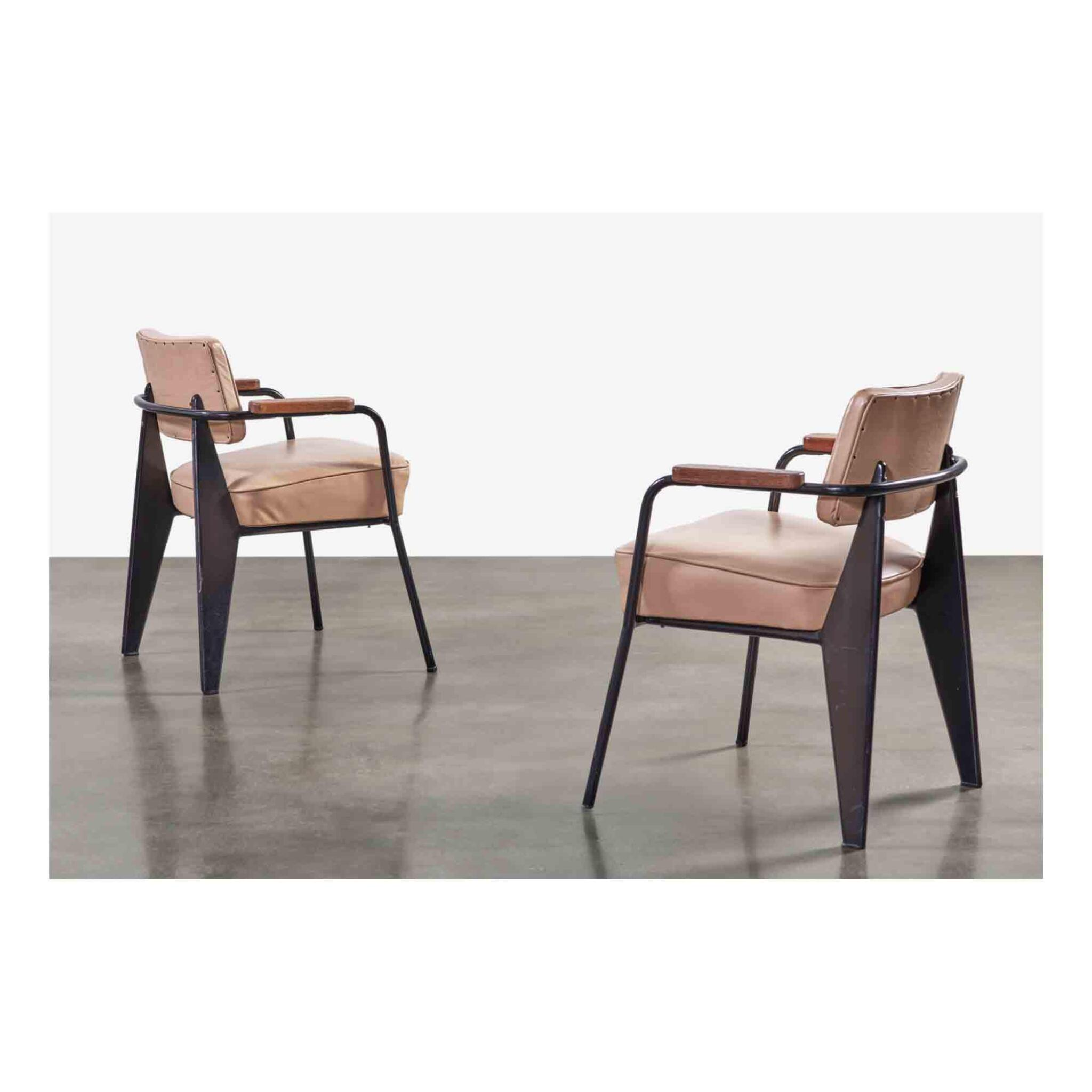 """View full screen - View 1 of Lot 91. Pair of """"Direction"""" Armchairs, Model No. 352."""
