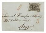 Postmaster's Provisional, Providence, RI. 1846 5c Gray Black (10X1)